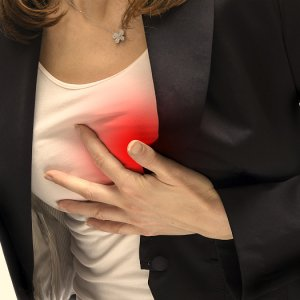 Боль под правой грудиной у женщин (колит)