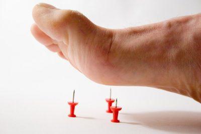 Мурашки в левой ноге